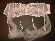 Victoria's Secret DESIGNER COLLECTION garter belt CINCHER lilac floral XS/S,M/L