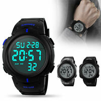 Big Digital Watch Men Military Army Water Resistant LED Sport Wristwatch US