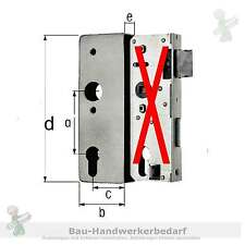 Schloßkasten lose blank - roh ohne Schloß Dorn = 60mm, Entf. 72mm, Breite = 30mm