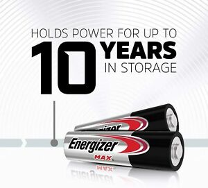 48X Energizer Max AA AAA Alkaline Battery Batteries Power 10 years Free Postage