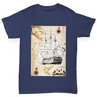 Twisted Envy Boy's Treasure Map Funny Cotton T-Shirt