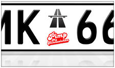 AU-Ersatzplaketten Nummernschild Aufkleber Autobahn Highway Vignette Maut LKW