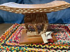 African Tribe Hand Carved Elephant Wooden Stool Chair Ghana Seat Zen Seat Zazen