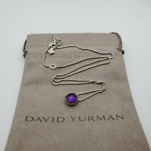 David Yurman Sterling Silver Chatelaine Pendant necklace with Amethyst