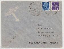 ITALIA 1937 AEROGRAMMA PRIMO VOLO MILANO-TORINO-PARIGI 6/4/1937 -LB34