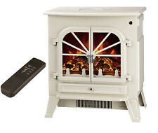 Galleon Fires Orion - Electric Stove with Remote Control - Electric Fire - Cream