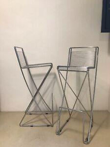 Barhocker Hocker Stuhl Original Till Behrens Schlubach Wire Chair Metall 80er