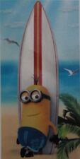 Toalla de Playa Minions Paradise Tabla Surf 100% Algodón para Niños Baño