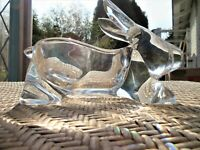 Vintage Crystal Glass RABBIT Bunny CANDY Dish Bowl