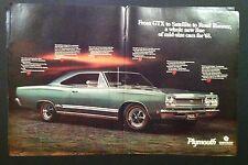 1968 Plymouth GTX Fury Cuda 6 page MOPAR original print car ad 1969 1967 Hot Rod