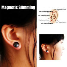Women Black Magnet Earring Ear Stud Stimulating Acupressure Weight Loss Jewelry