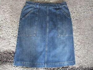 Womans Ladies SEASALT Denim Skirt Knee Length Size UK12...STUNNING