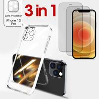 iPhone 12 / 12 Mini / Pro Max Schutz Kamera Hülle + 2x Panzerfolie Schutzglas 9H
