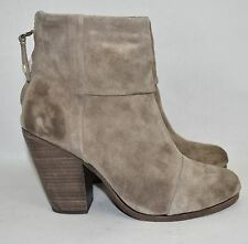 CELEBS!$550 rag & bone Newbury Ankle Boot Bootie WAXED SUEDE taupe grey 38 (wr1)