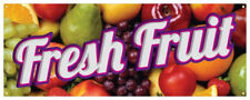 Fresh Fruit Banner Farmers Market Produce Stand Orchard Store Sign 36x96