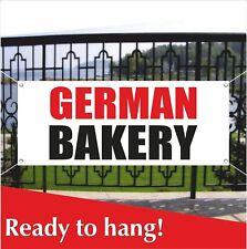 German Bakery Banner Vinyl Mesh Banner Sign Cakes Cookies Bread Fresh Food