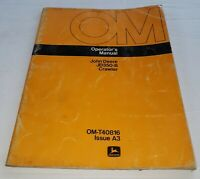 John Deere JD350-B Dozer Crawler Tractor Operator's Manual OM-T40816 Issue A3
