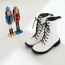 Womens Round Toe Sweet Candy Lace Up Military Combat Shiny Leather ANkle Boots