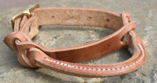 Hand-made Herman Oak Rolled & Stitched Saddle Night Latch Strap. Horse tack