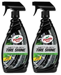 Turtle Wax Wet'N Black Ultra Wet Long Lasting Tire Shine 23 FL Oz (2 Pack)