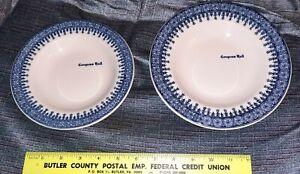 "Vintage Shenango Congress Hall Bowls 7"" & 8"" Very Rare Pattern Cape May NJ"