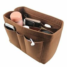 Coffee Multi Pocket Inset Felt Fabric Bag Organizer Portable Durable and Compact