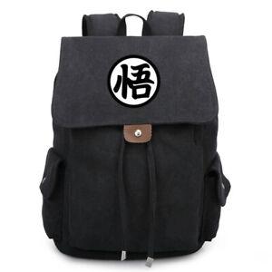 "Anime Dragon Ball DragonBall Z ""悟"" Canvas Laptop Backpack School Bag Supply"