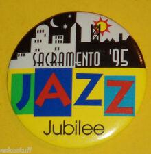 Sacramento Jazz Jubilee 1995 Pinback Button Sacramento California Nice See!