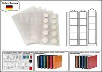 5 LOOK 1-7391-5 Münzhüllen - Münzblätter PREMIUM 15 Fächer Für Münzen bis 44 mm