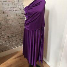 "Halston Heritage Purple Skirt Dress Long Disco A-Line 32"" waist"