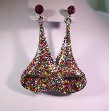 Crystal Folded Effect Earrings - CE017
