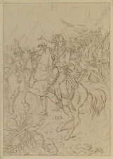 """Josef Berger """"Napoleon in Egypt"""", Drawing, 1842"""
