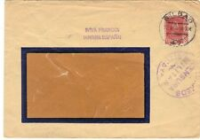 "SPAIN 1938 BILBAO 23.AG.38 MILITARY CENSOR & ""IVIVA FRANCOI IARRIBA ESPANAI"" MRK"