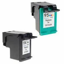 2x Remanufactured Ink Cartridges for HP 94 Black C8765WN + HP 95 Color C8766WN