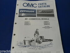 1987, 40 Commercial Models OMC Evinrude Johnson Parts Catalog