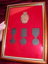 Frame for WW1 ANZAC Medal  & WW1 Star, War & Victory Medals