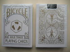 Rare Bicycle GOLD TRACE Deck Playing Cards Magic Outline 3-D Cube Ace Design