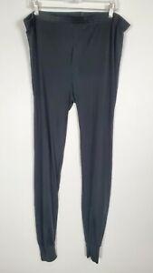 Terramar Thermasilk 100% Silk Baselayer Men's Legging Pants XL Black Hikinig