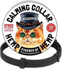 LegitPet Calming Collar for Cats and small Dogs with Hemp