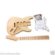 COBAN à bricoler soi-même guitare électrique Kit HY280 solide corps frêne blanc