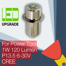 LED Upgrade Bulb Tool Torch Bosch DeWalt Makita Hitachi 9.6 12 14.4 18 24v CREE