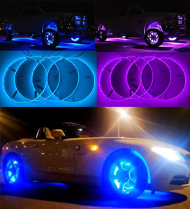 "FIA IP68 15.5"" Wheel Rims Lights RGB Color Change Strobe Rings Bluetooth Control"