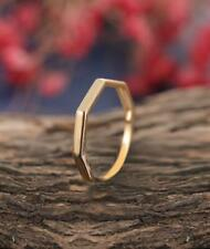 Women,Delicate Wedding,Promise Band Ring Sz 7 Plain 18K Yellow Gold Over Unique