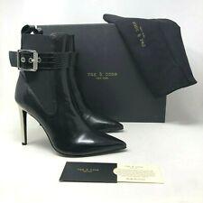 NIB $650 Rag & Bone Wren Leather Pointed Toe Black Boot size:US9  EU39