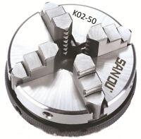 "50MM 2"" 4 Jaw Manual Lathe Chuck M14 Self Centering Hardened Steel CNC NEW"