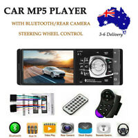 4.1'' 1Din Bluetooth Car Stereo Radio FM/USB MP3 MP5 Player Remote Wheel Control