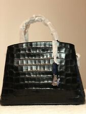 DKNY Paige Croc Embossed Satchel NEW with Tags And Dust Bags