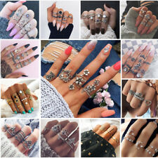Fashion Women Boho Stack Above Knuckle Rings Band Midi Finger Ring Set Jewelry