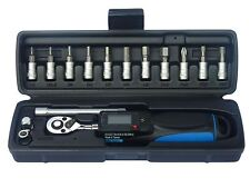 "Tool Hub 9729 15 Pc Low Range Digital Torque Wrench 1/4"" Drive 6-30Nm Calibrated"