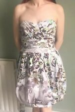 Oasis belle 10 dress floral strapless or spagetti strap sweetheart neck tulip